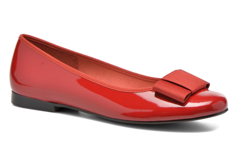 Ballerinaer Georgia Rose Siable Rød detaljeret billede af skoene