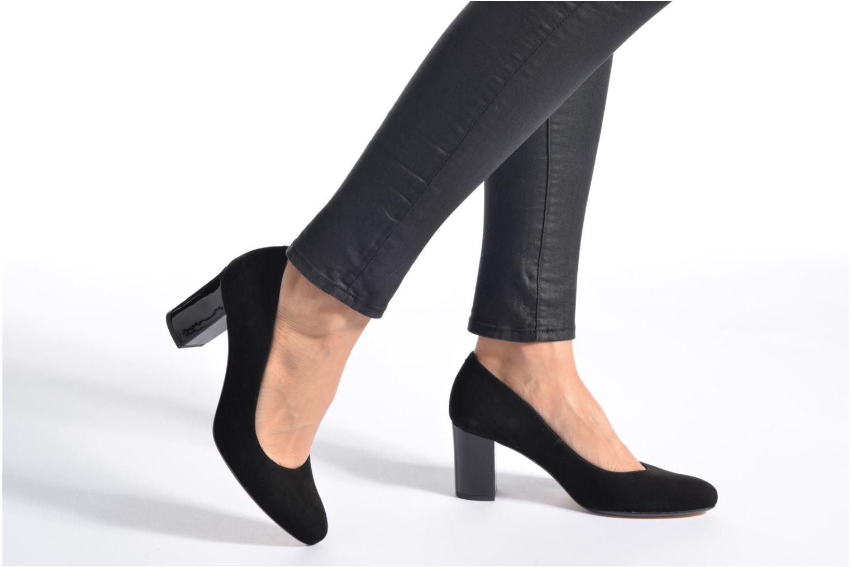 Zapatos de tacón Georgia Rose Santoo Negro vista de abajo
