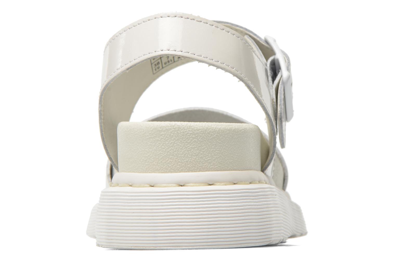 Shore Romi Y strap Sandal White Petrol Leather