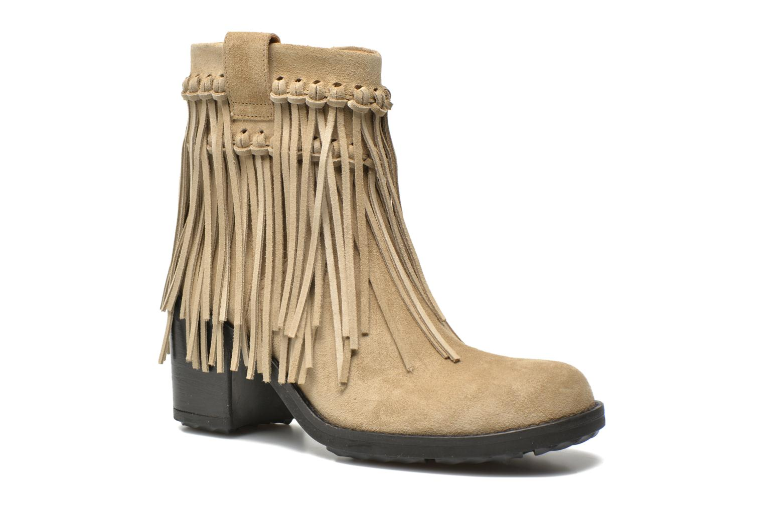 Bottines et boots Free Lance Oprah 7 Small Boot Franges Beige vue  détail/paire