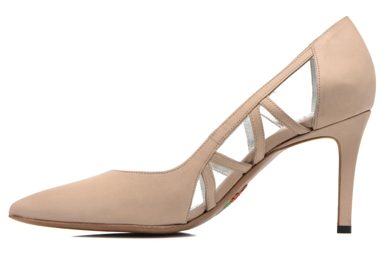 High heels Free Lance Itlys 7 Pumps Open Line Beige front view