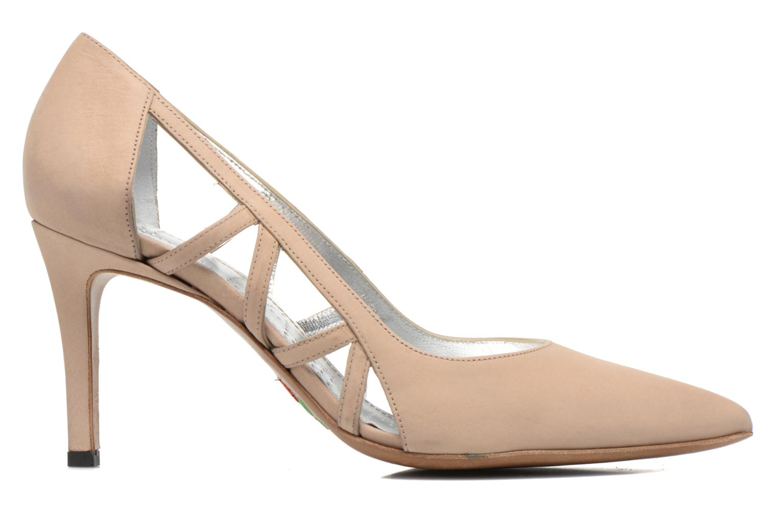 High heels Free Lance Itlys 7 Pumps Open Line Beige back view