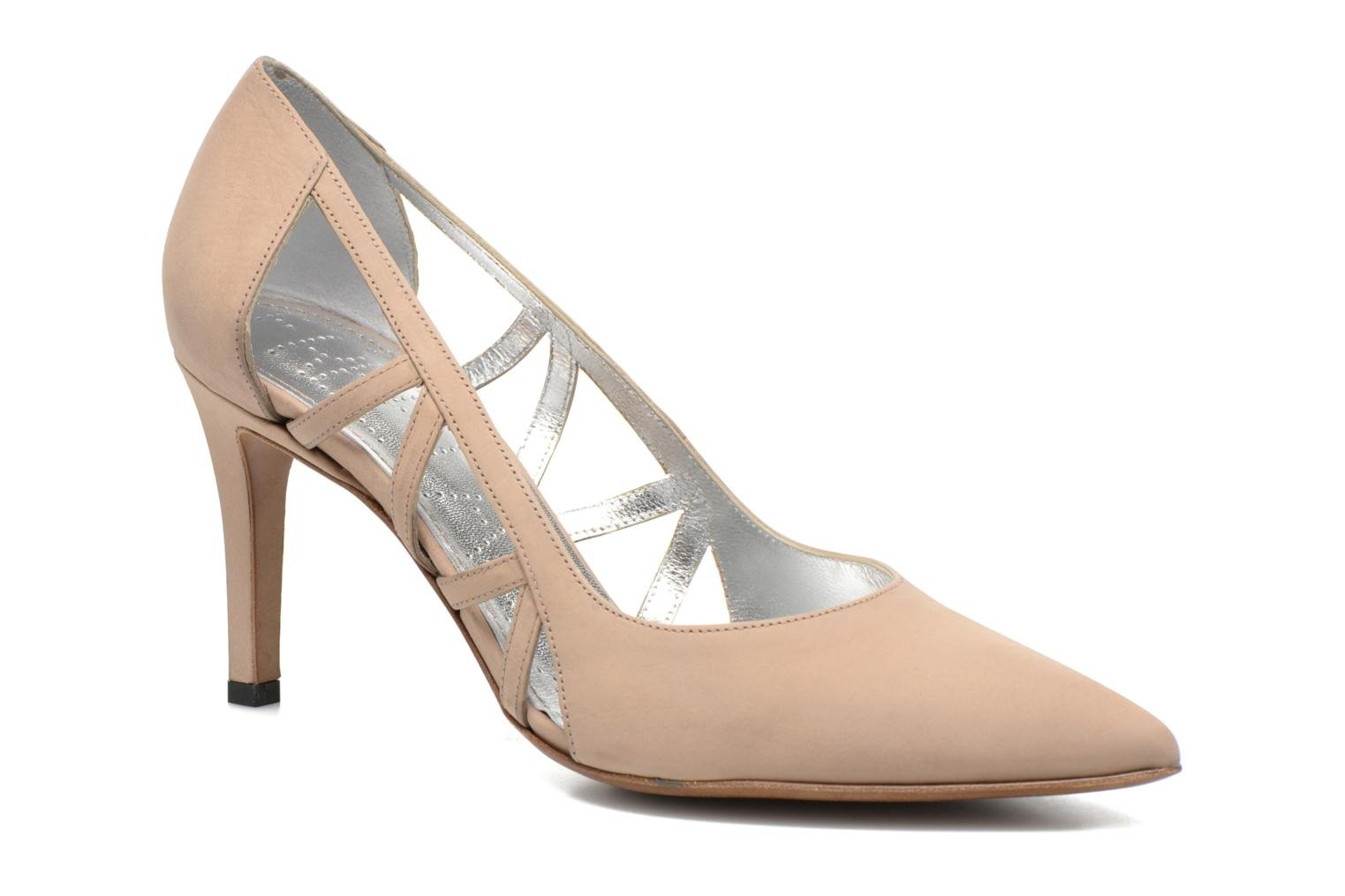 High heels Free Lance Itlys 7 Pumps Open Line Beige detailed view/ Pair view