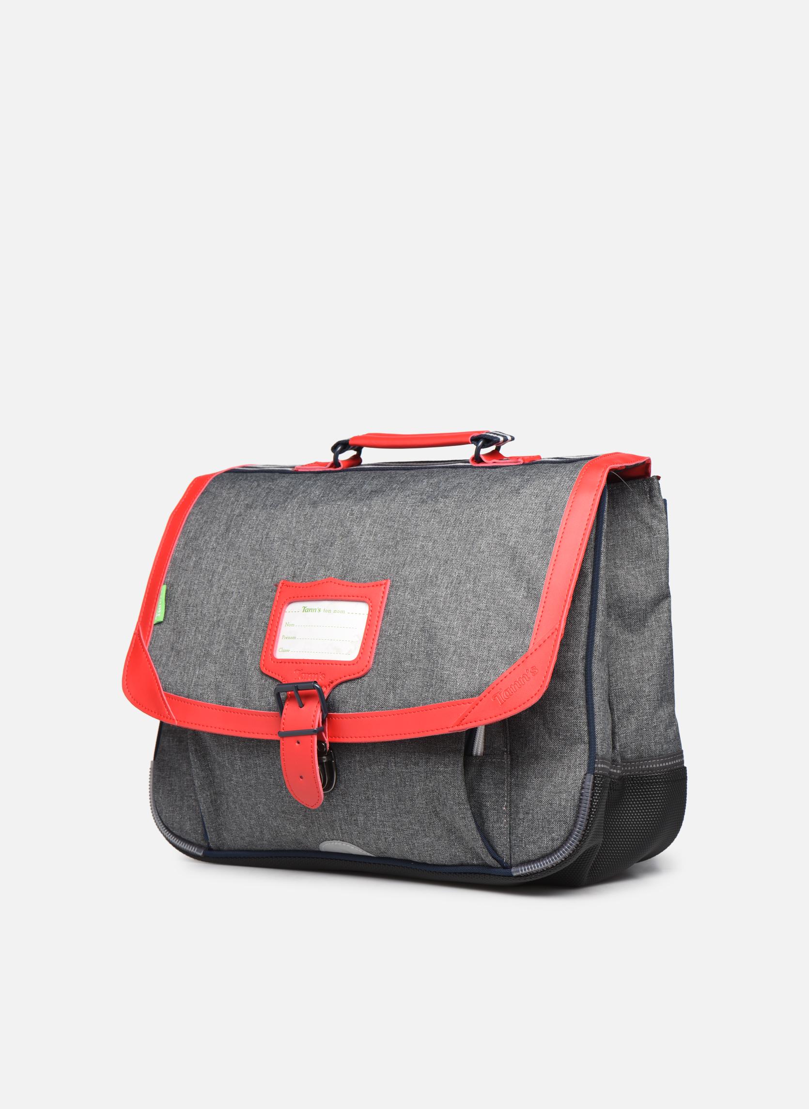 Cartable 38cm CLASSIC Gris chiné/rouge