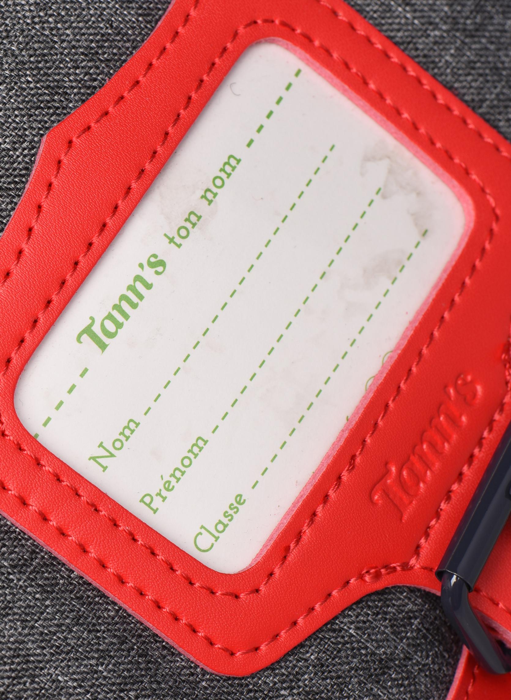 Scolaire Tann's Cartable 38cm CLASSIC Gris vue gauche