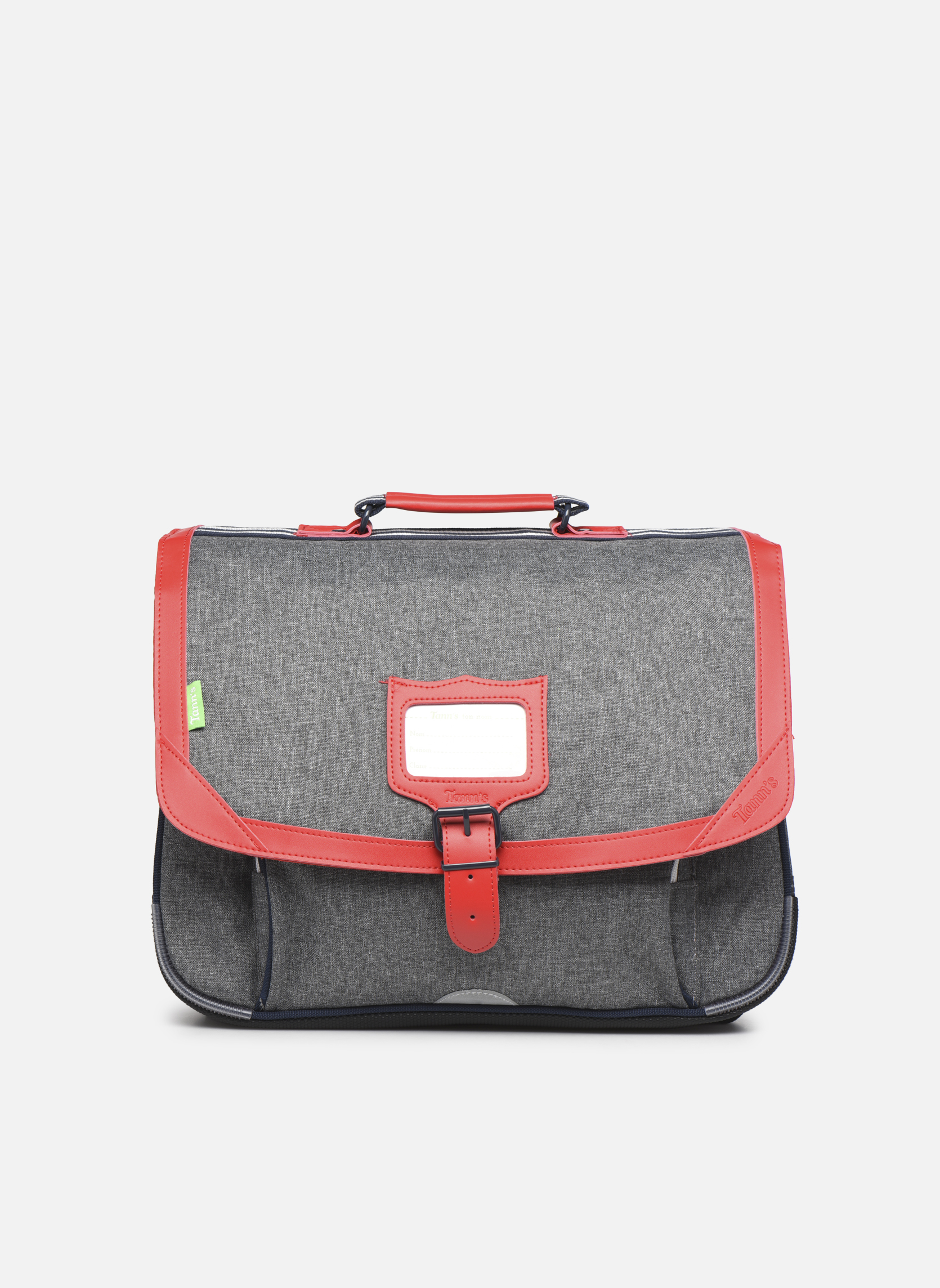 Cartable 38cm CLASSIC Gris chiné/rouge