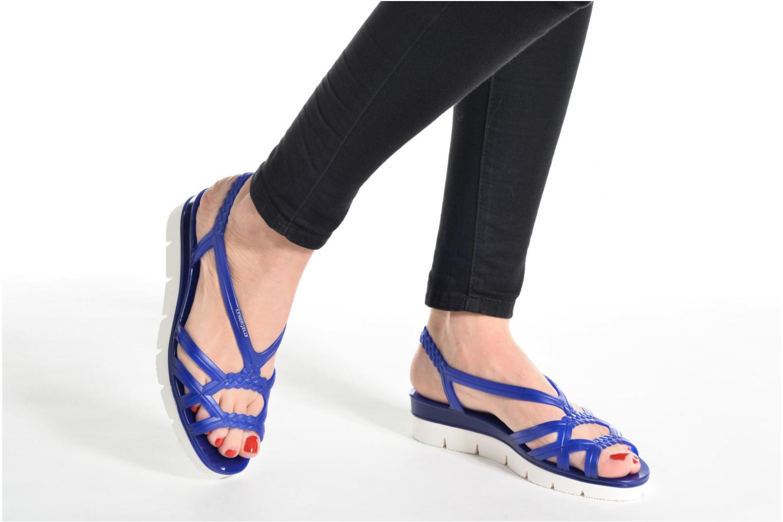 Sandales et nu-pieds Lemon Jelly Miaki Bleu vue bas / vue portée sac
