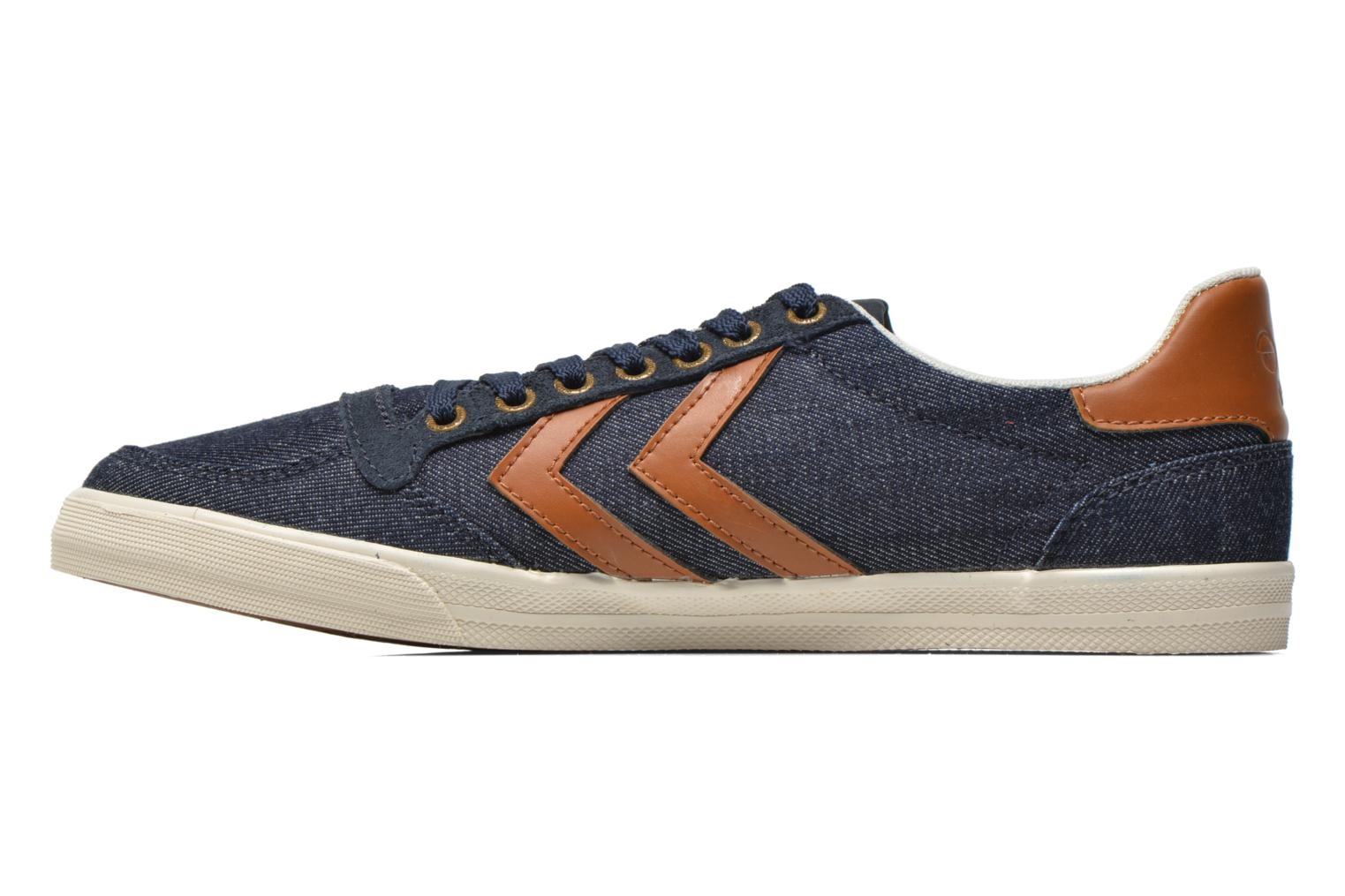 Baskets Hummel Ten Star Denim Lo Bleu vue face