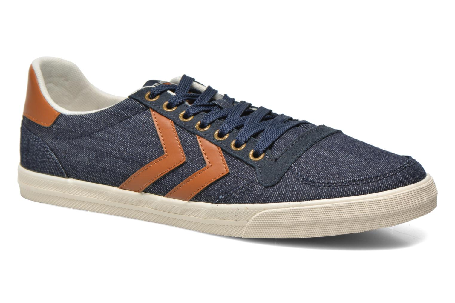Baskets Hummel Ten Star Denim Lo Bleu vue détail/paire