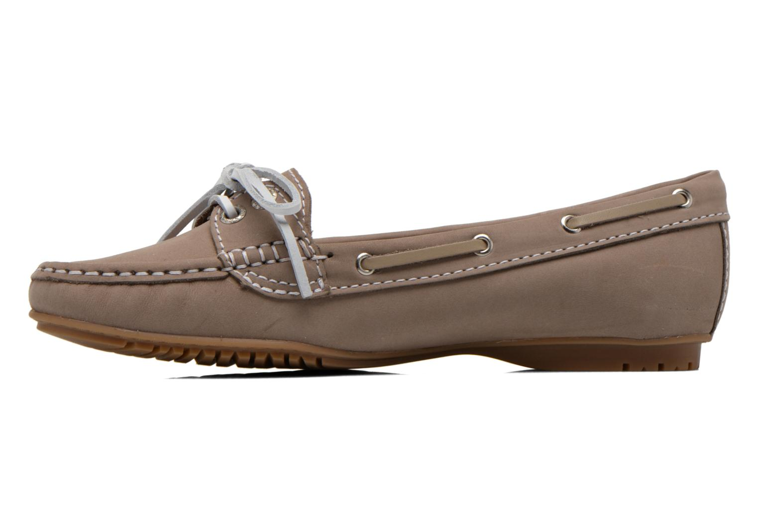 Mocassins Sebago Meriden Two eye Beige vue face