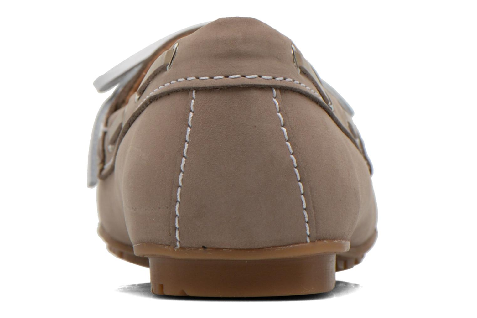 Loafers Sebago Meriden Two eye Beige view from the right