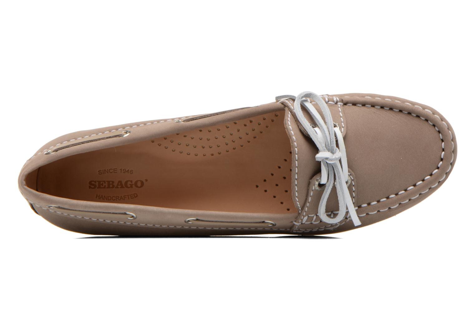 Mocassins Sebago Meriden Two eye Beige vue gauche