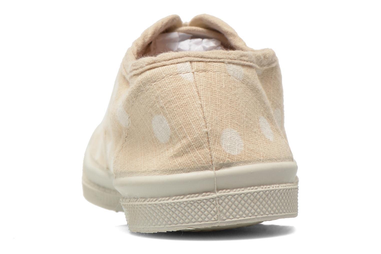 Sneaker Bensimon Tennis Lacets Pastel Pastilles E beige ansicht von rechts