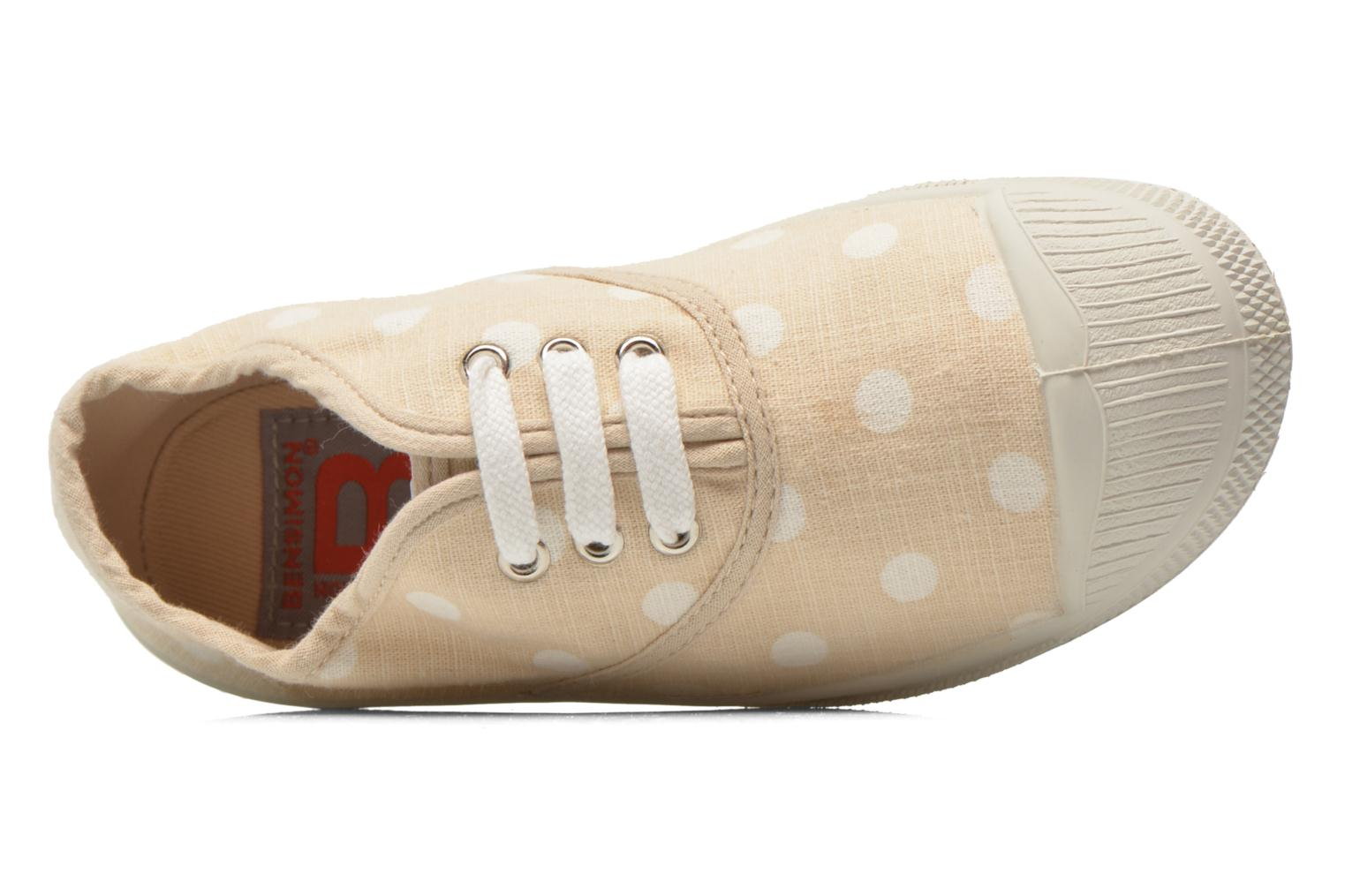 Trainers Bensimon Tennis Lacets Pastel Pastilles E Beige view from the left