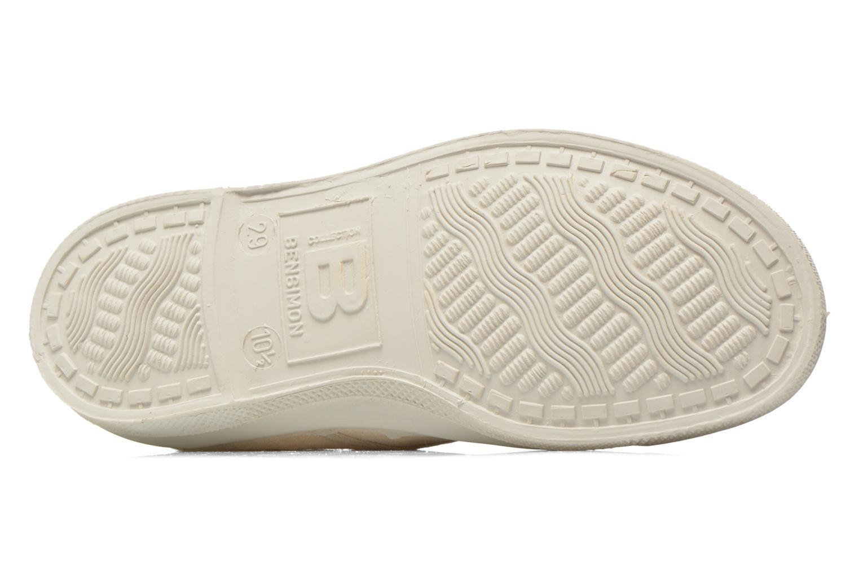 Sneaker Bensimon Tennis Lacets Pastel Pastilles E beige ansicht von oben
