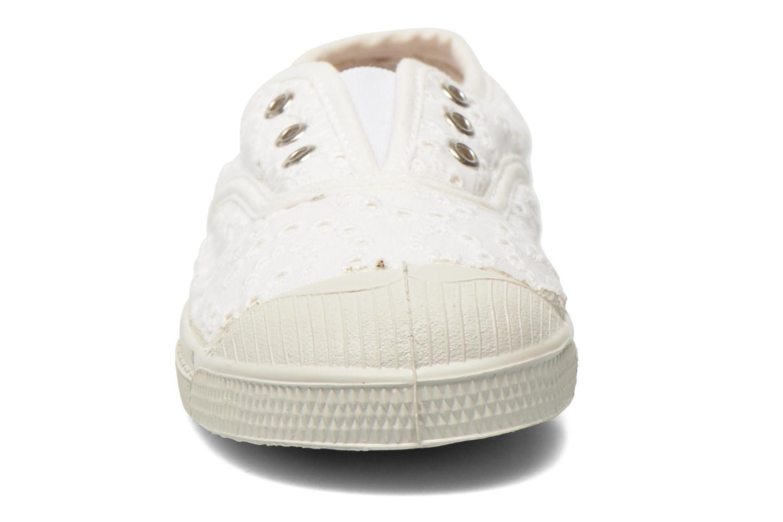 Baskets Bensimon Tennis Elly Broderie Anglaise E Blanc vue portées chaussures