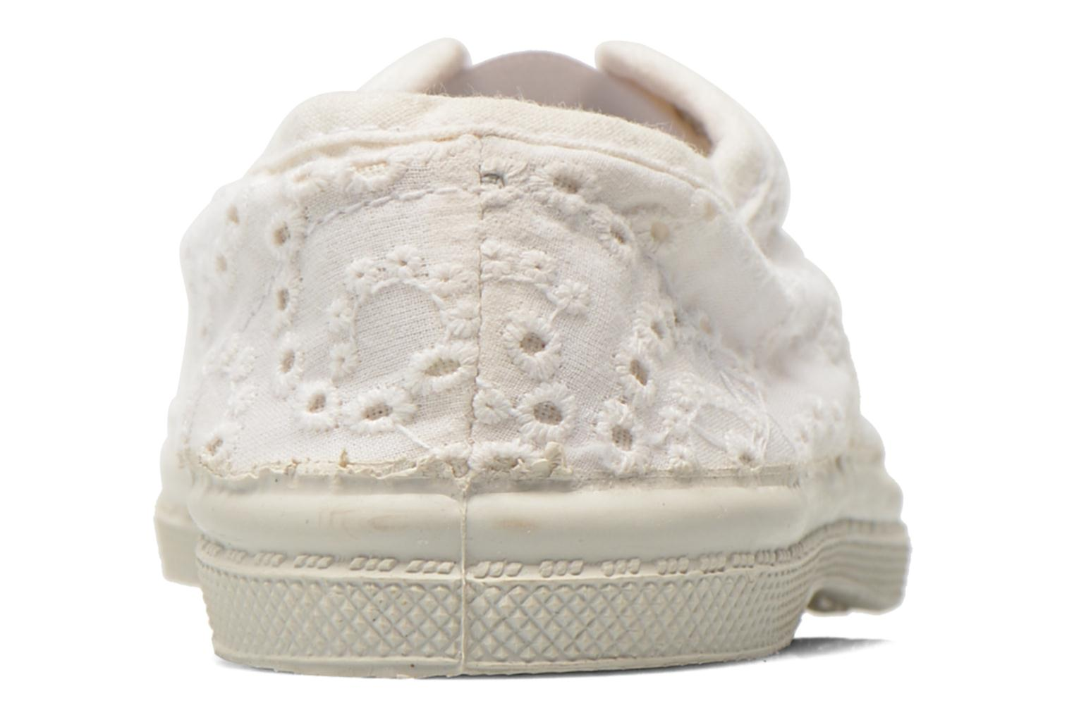 Trainers Bensimon Tennis Elly Broderie Anglaise E White view from the right