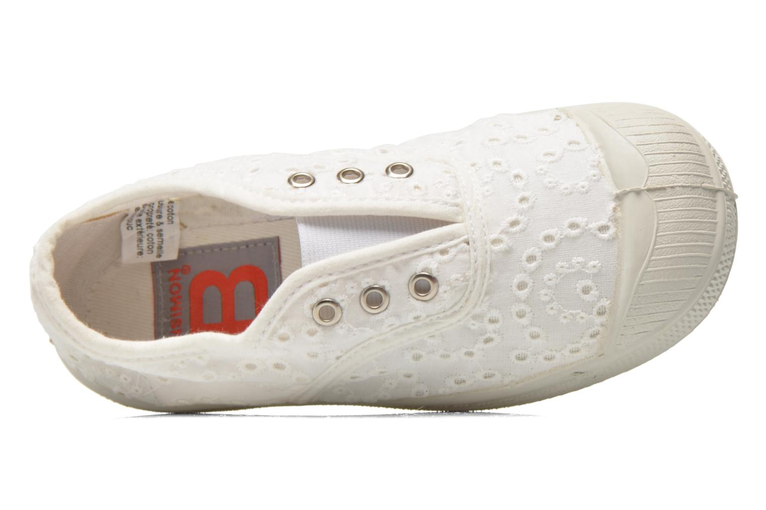 Trainers Bensimon Tennis Elly Broderie Anglaise E White view from the left