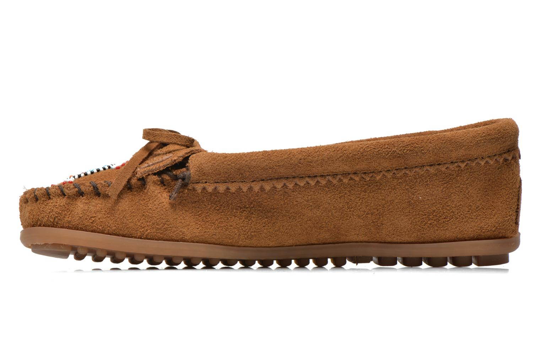 Loafers Minnetonka Me to We moc Brun bild från framsidan