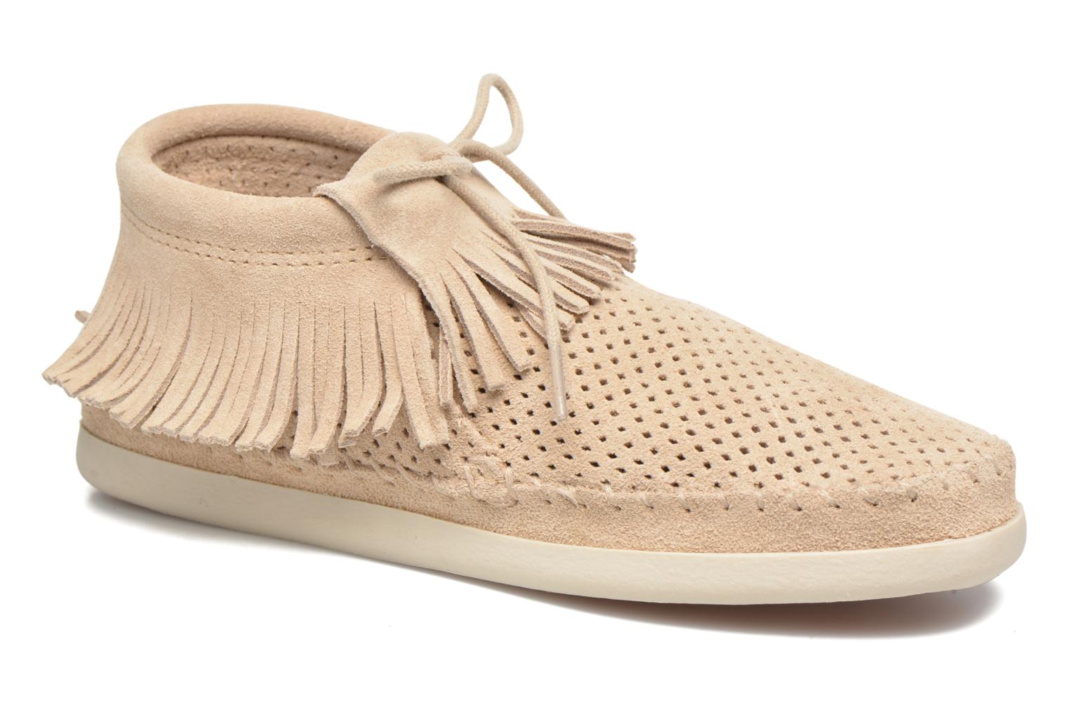 Venice Perf stone suede