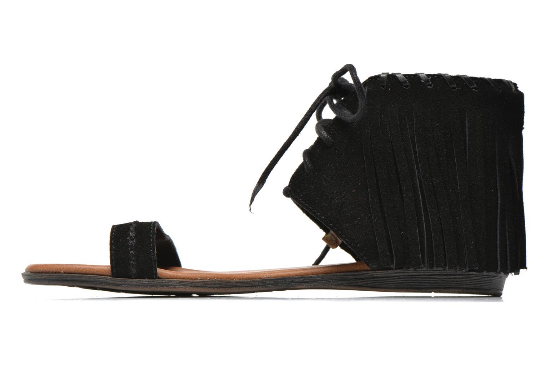 Sandales et nu-pieds Minnetonka Havana Noir vue face