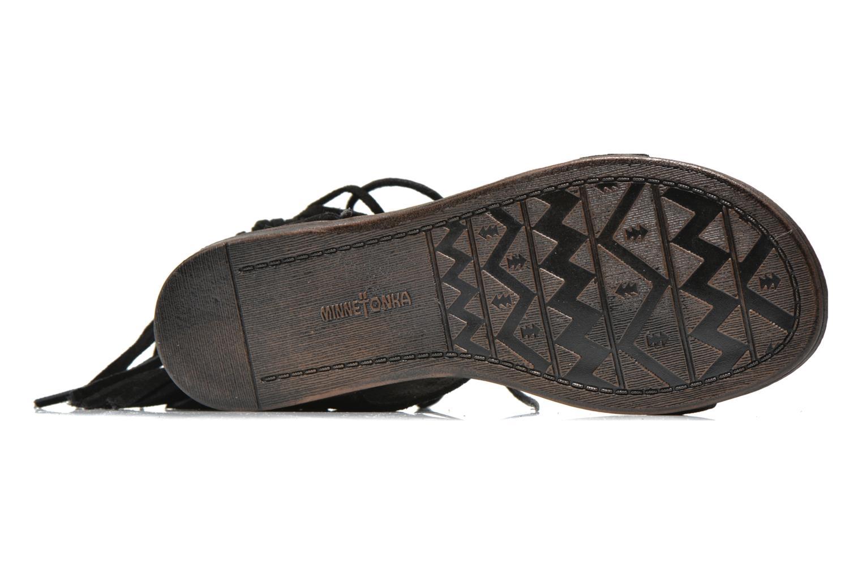 Sandales et nu-pieds Minnetonka Havana Noir vue haut