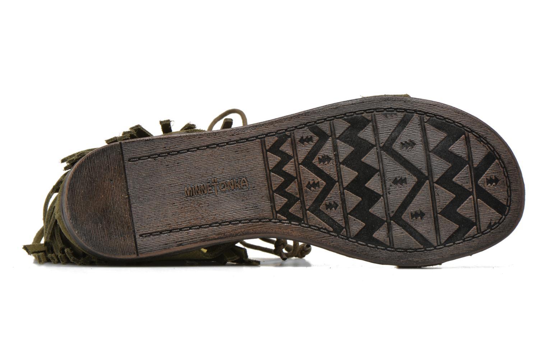 Sandales et nu-pieds Minnetonka Havana Vert vue haut