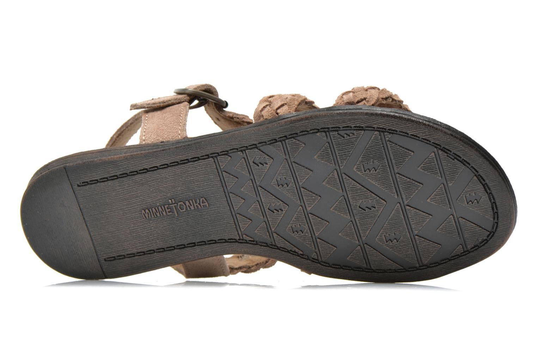 Sandales et nu-pieds Minnetonka Santorini Beige vue haut