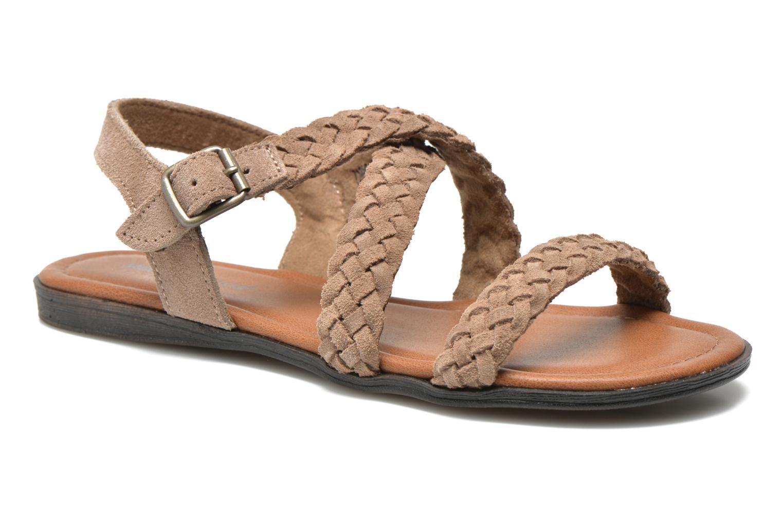 Sandales et nu-pieds Minnetonka Santorini Beige vue détail/paire