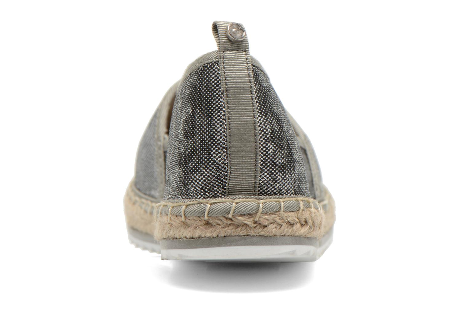 Espadrilles Bullboxer Fedumi Silver view from the right