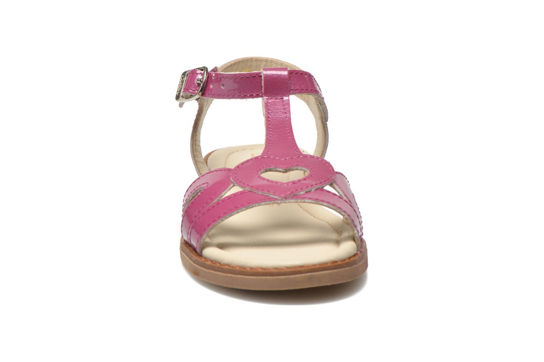 Sandales et nu-pieds Aster Tchania Violet vue portées chaussures