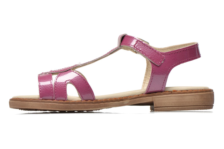 Sandales et nu-pieds Aster Tchania Violet vue face