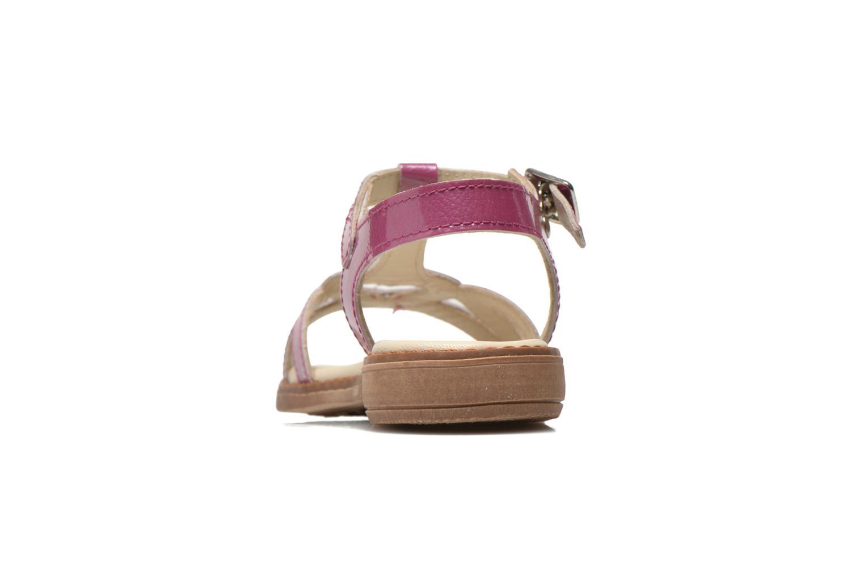 Sandales et nu-pieds Aster Tchania Violet vue droite