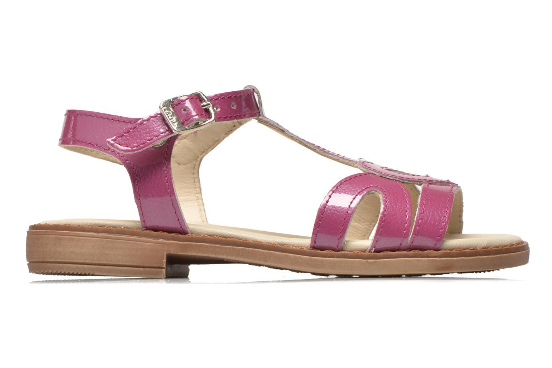 Sandales et nu-pieds Aster Tchania Violet vue derrière