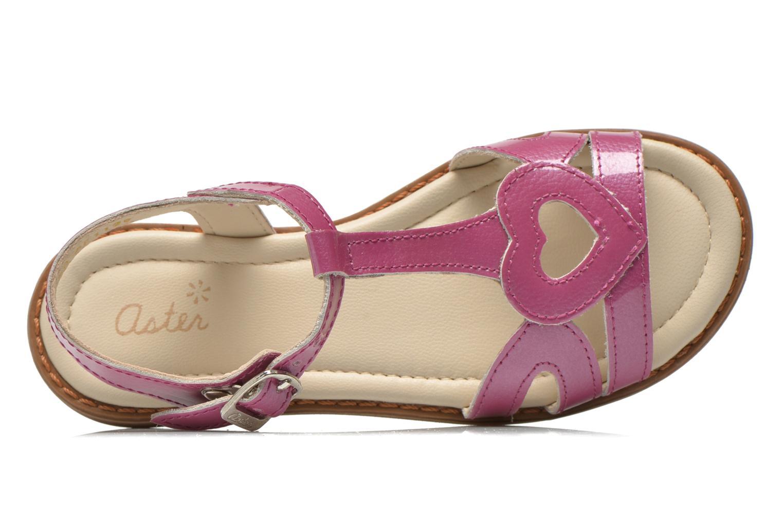 Sandales et nu-pieds Aster Tchania Violet vue gauche
