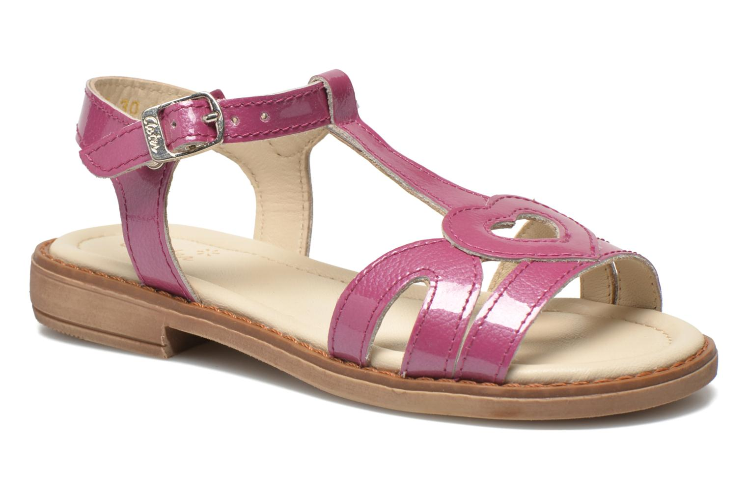 Sandals Aster Tchania Purple detailed view/ Pair view