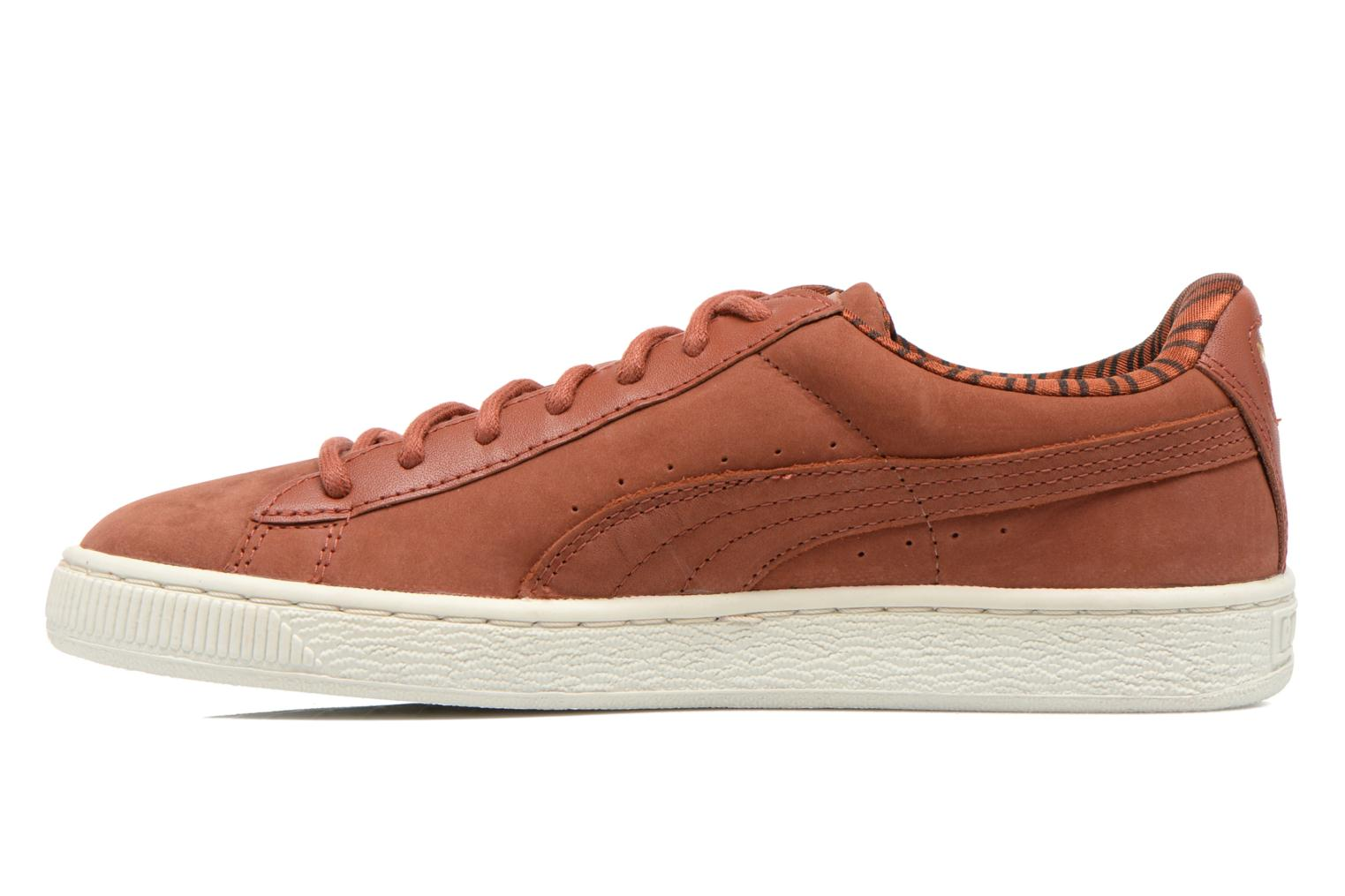 Trainers Puma Basket Classic Citi Brown front view