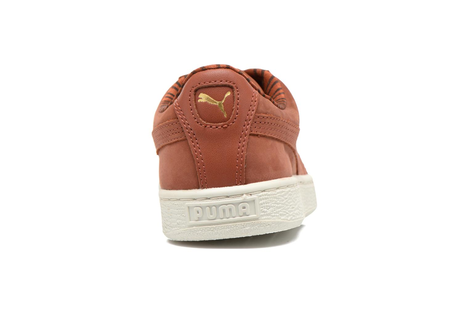 Trainers Puma Basket Classic Citi Brown view from the right