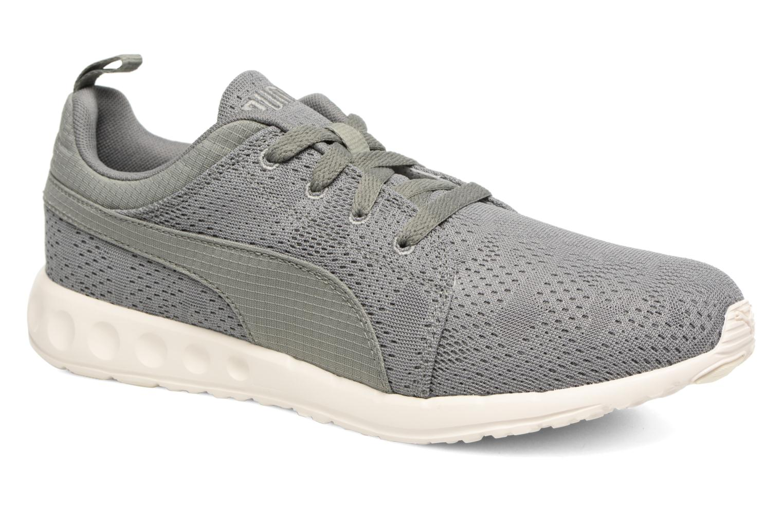 Sport shoes Puma Carson Camo Mesh Green detailed view/ Pair view