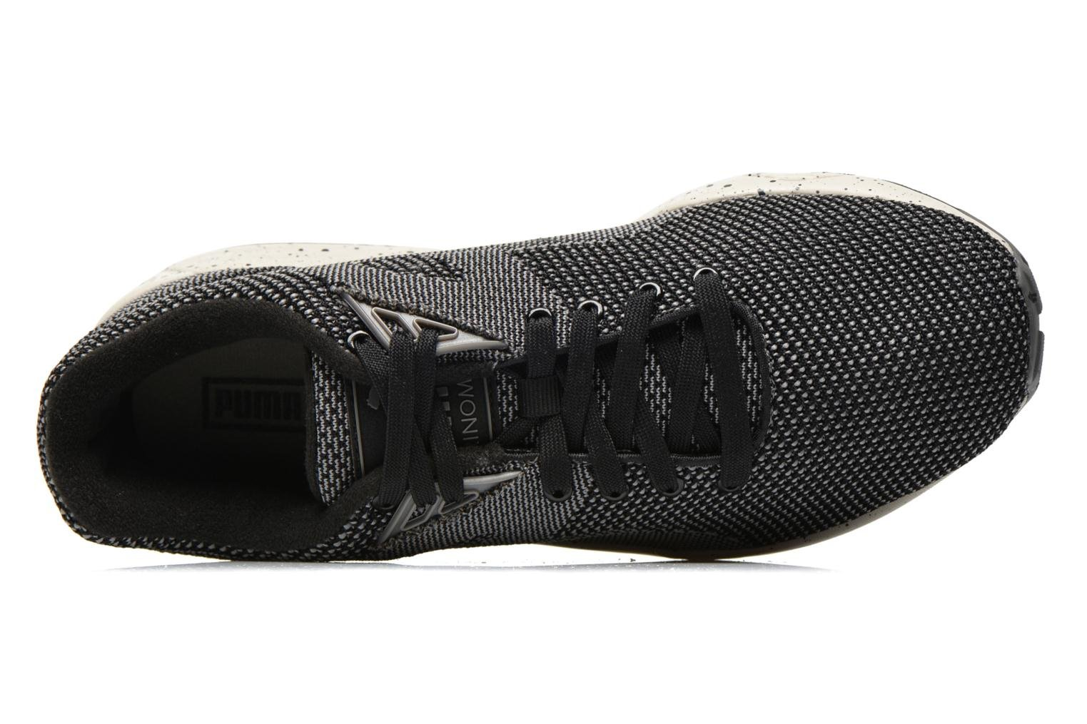 Trainers Puma R698 Knit Mesh V2.1 Trinomic Black view from the left