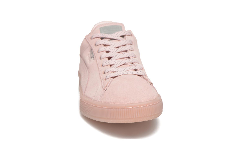 Sneakers Puma WNS Suede Mono Ref Rosa modello indossato