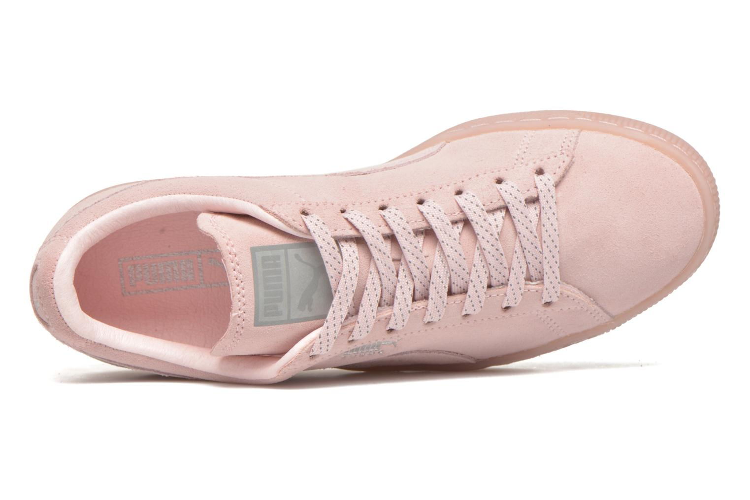 Trainers Puma WNS Suede Mono Ref Pink view from the left