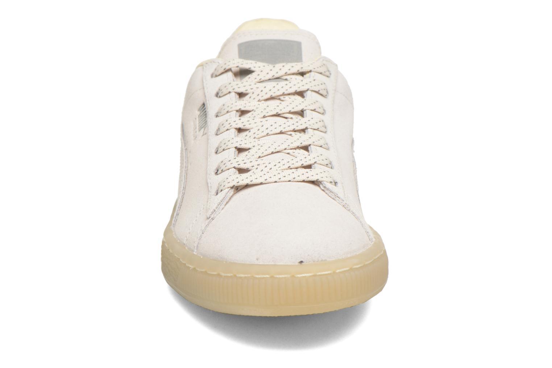 Sneaker Puma WNS Suede Mono Ref weiß schuhe getragen