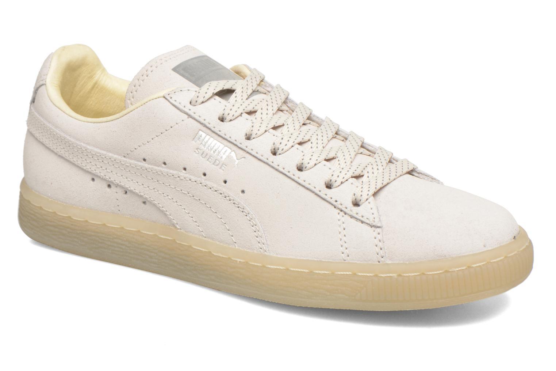 Baskets Puma WNS Suede Mono Ref Blanc vue détail/paire