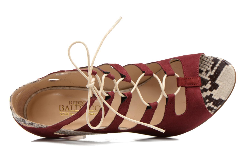 Sandales et nu-pieds Rebecca Balducci Mathilda Bordeaux vue gauche