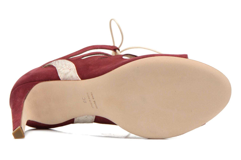 Sandales et nu-pieds Rebecca Balducci Mathilda Bordeaux vue haut