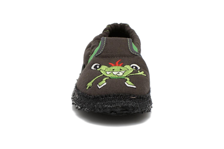 Chaussons Giesswein Aufhausen Gris vue portées chaussures