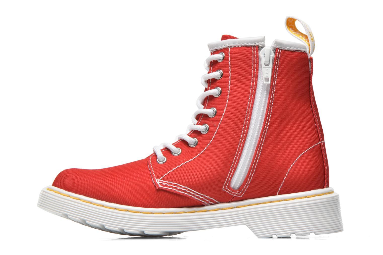 Botines  DR. Martens Juniors Delaney Lace Boot Canvas Rojo vista de frente