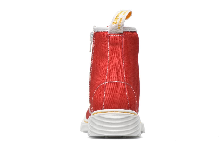 Bottines et boots Dr. Martens Juniors Delaney Lace Boot Canvas Rouge vue droite