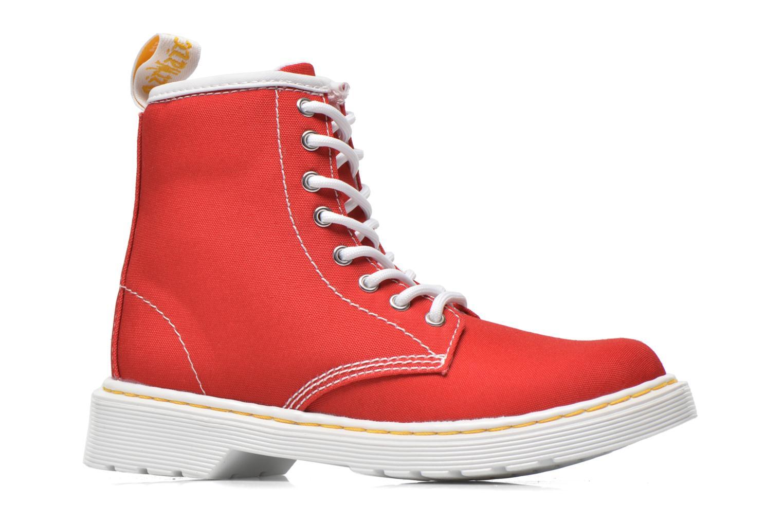 Bottines et boots Dr. Martens Juniors Delaney Lace Boot Canvas Rouge vue derrière